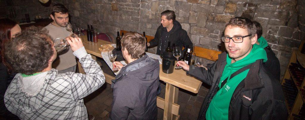 wine cellars in Vipava valley wine tasting