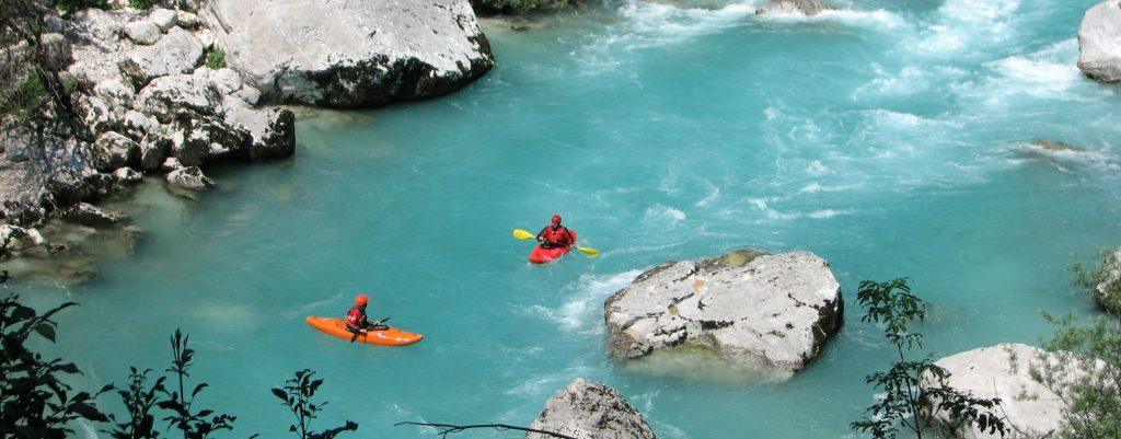 Kayaking Soca valley Slovenia