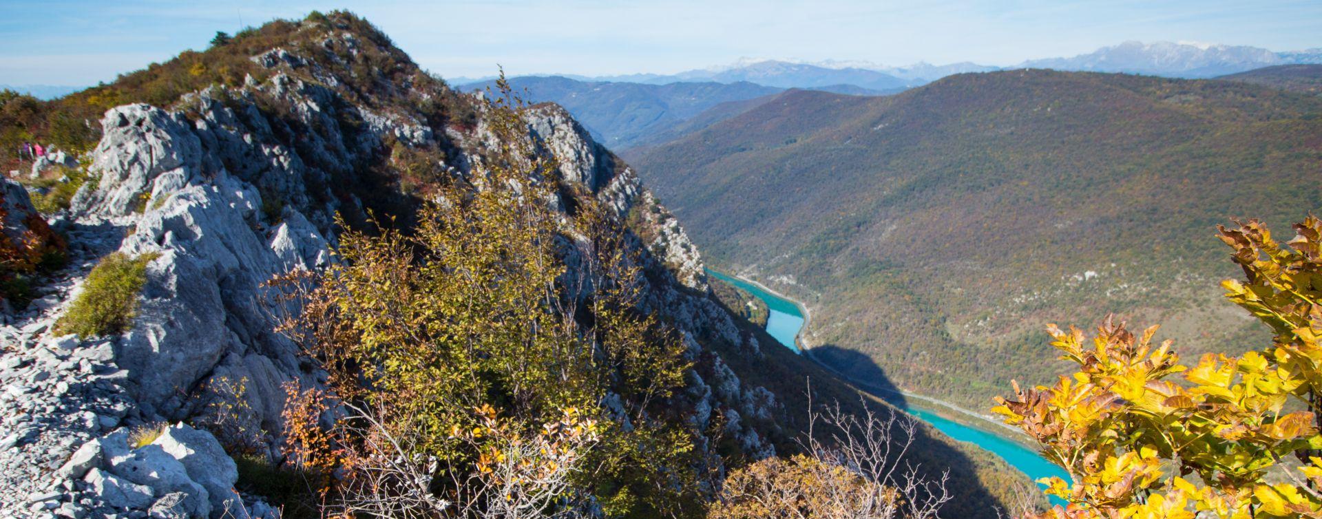 soca river sabotin hill slovenia