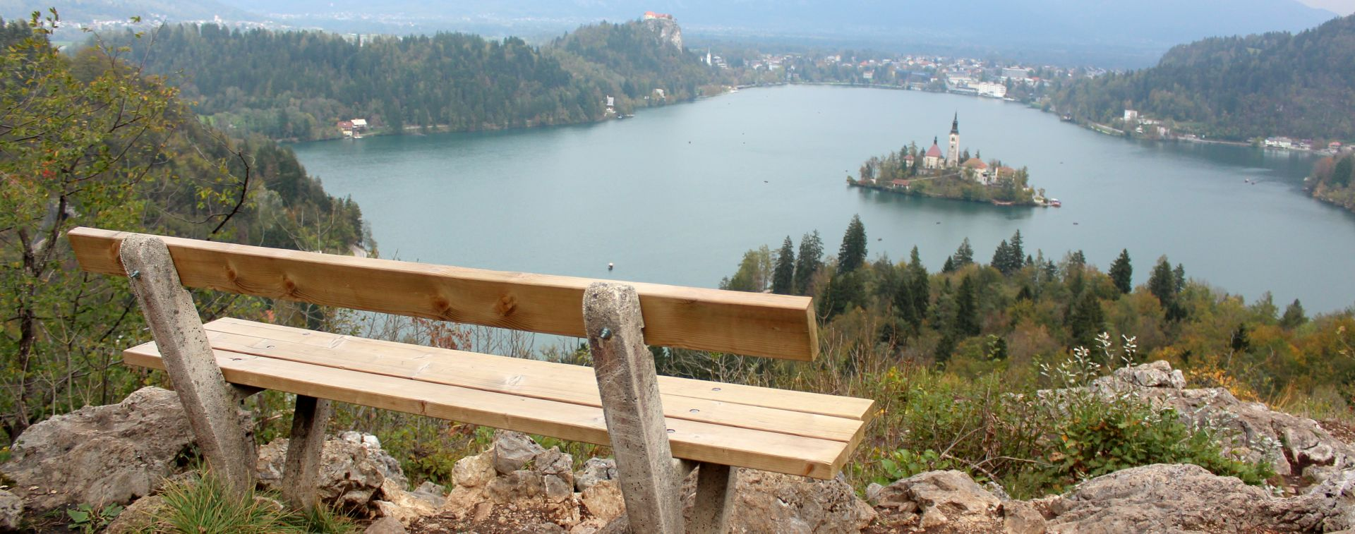 Stunning view on Bled lake