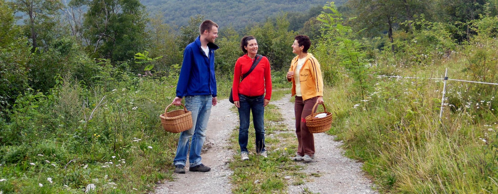 picking herbs soca valley