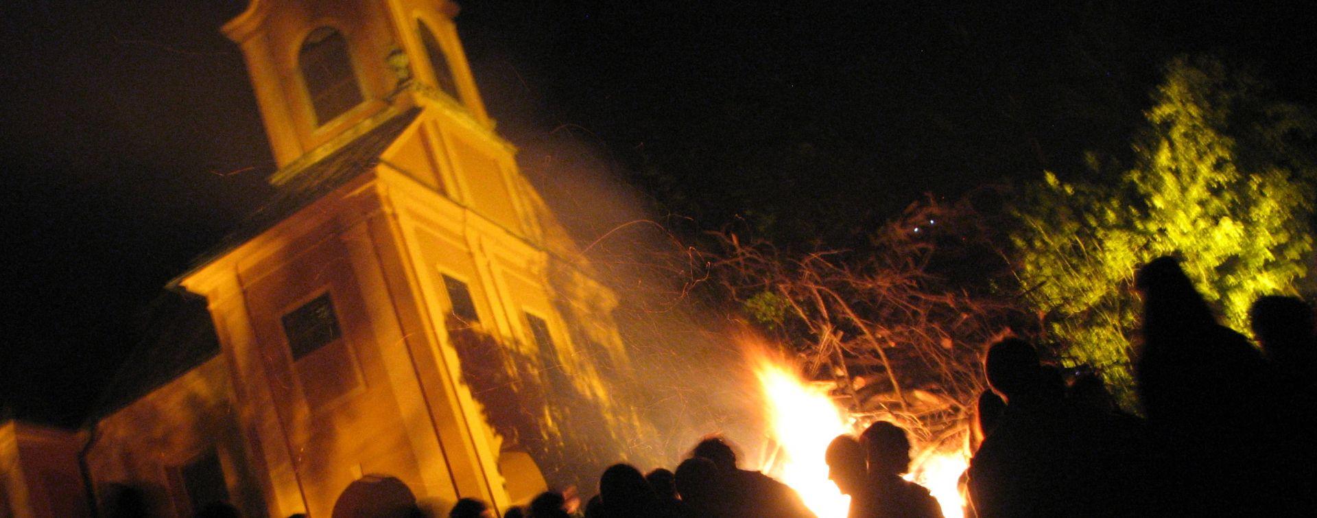 Lighting bonfires Ljubljana